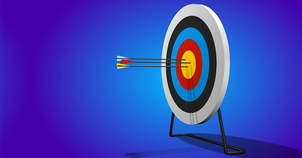 arrows hitting the target-infographics