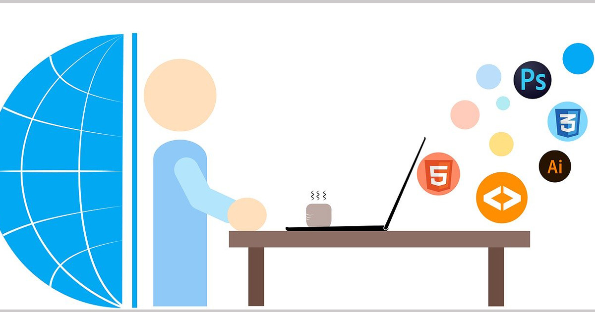 a person working with web design