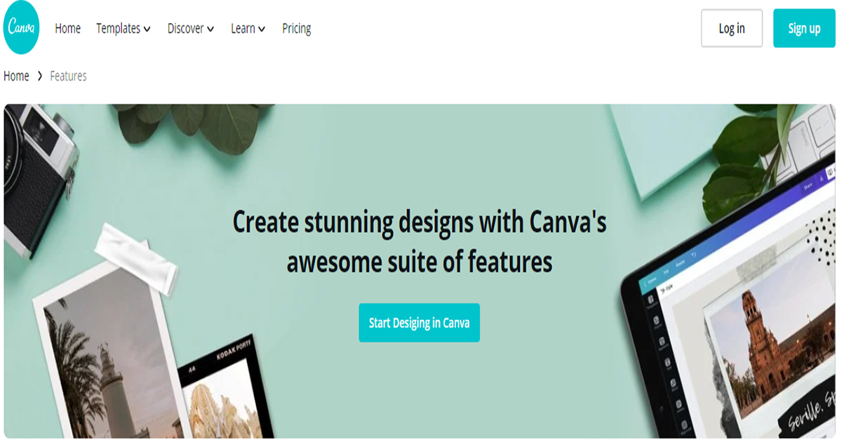 Canva-free online tool for web design