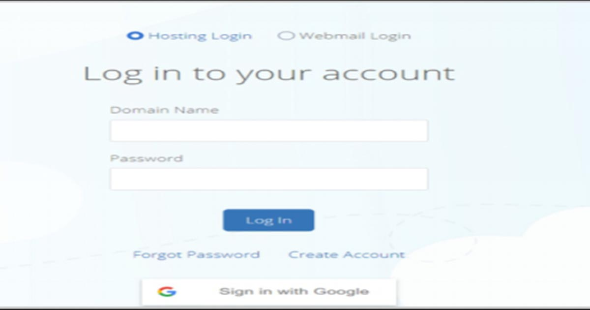 Logging to hosting account
