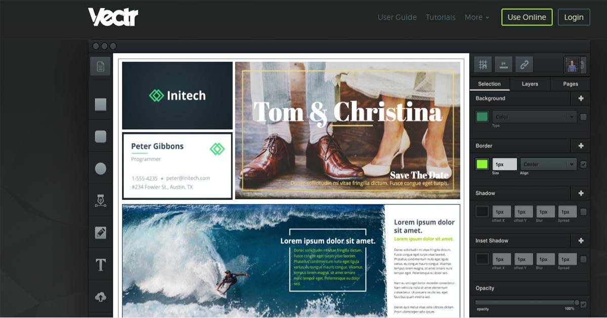Vectr- web tool to design creative elements