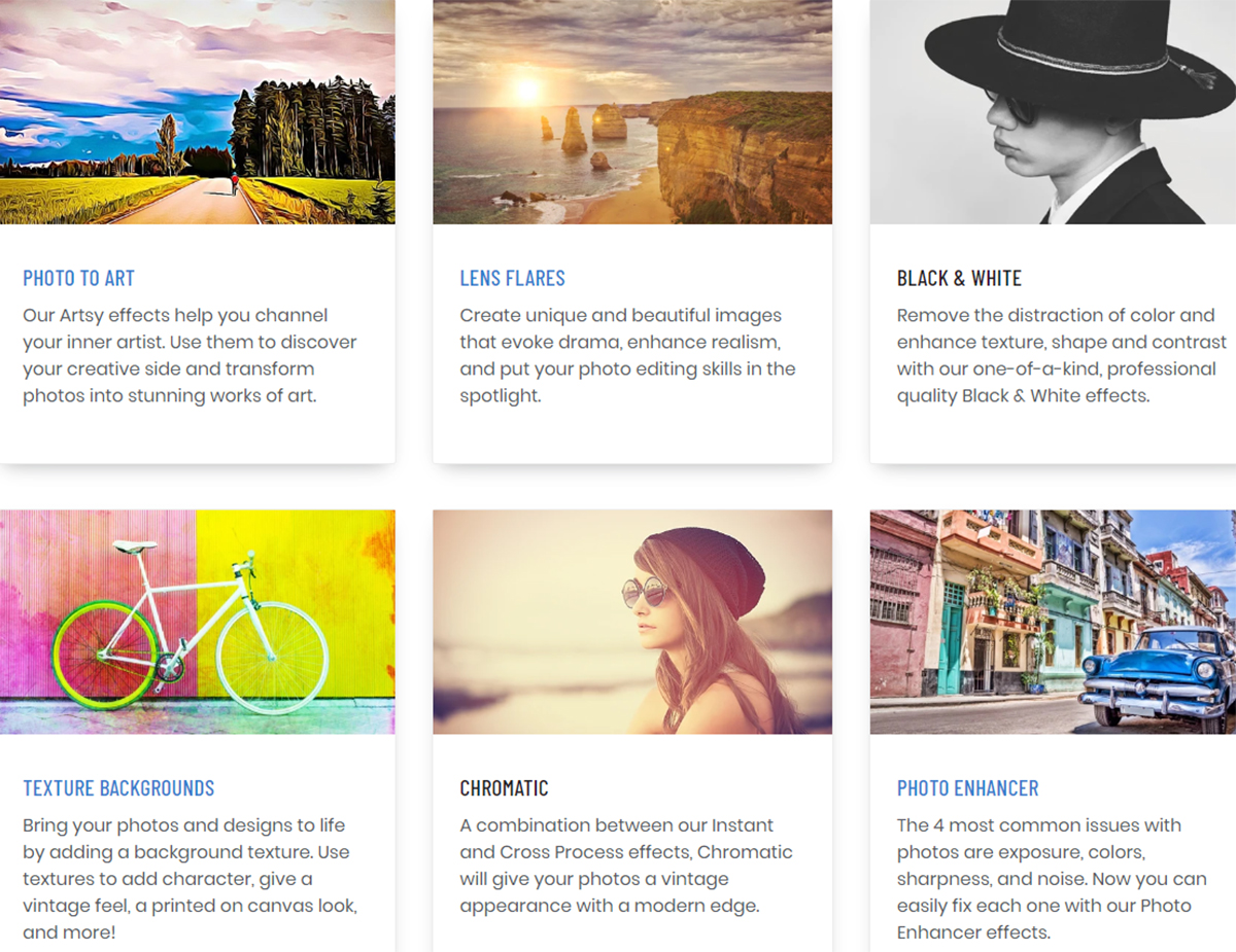 features of befunky templates