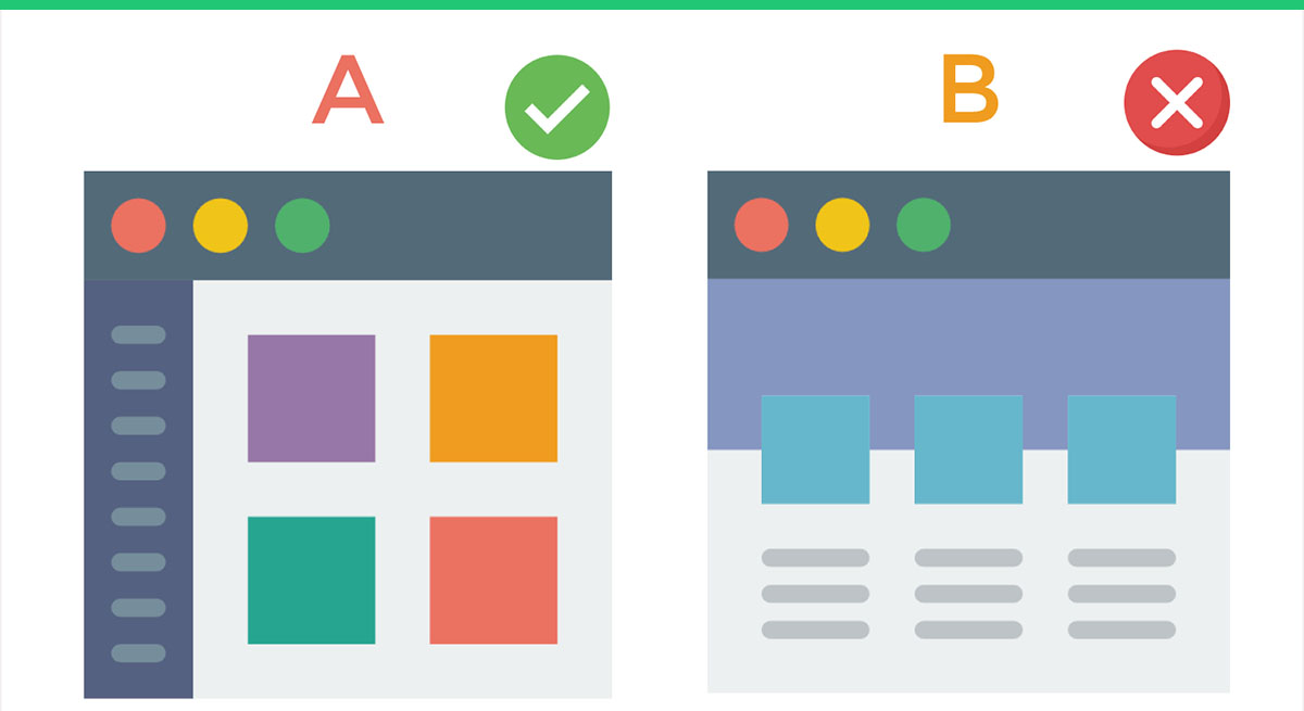 A/B testing to overview the changes on the site.