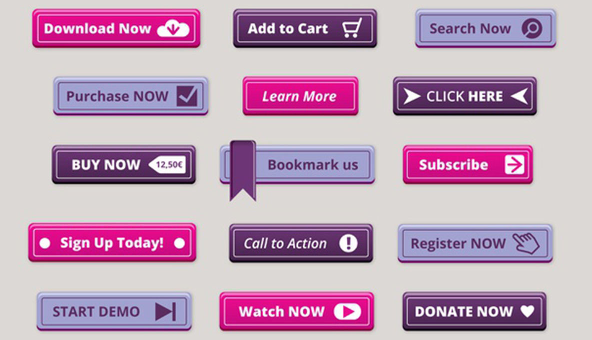 Different CTA buttons that causes the people to take action