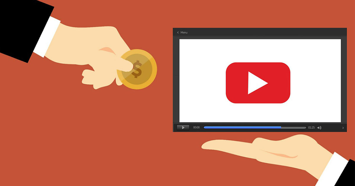Youtube paying money to the person